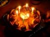 りんごとキャラメルのケーキ 蝋燭バージョンの図